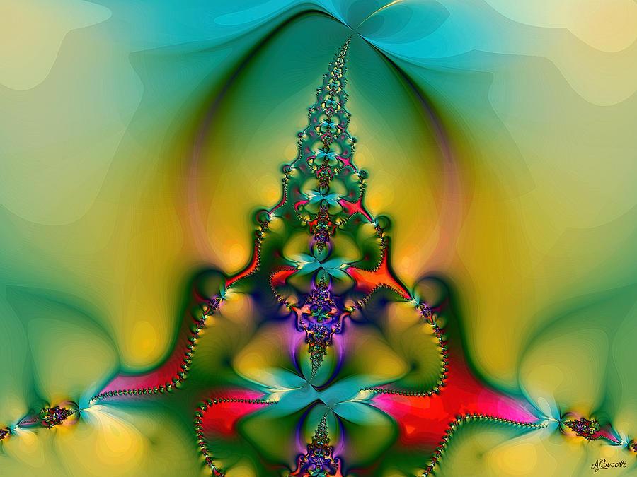Christmas Digital Art - Christmas Tree by Alexandru Bucovineanu
