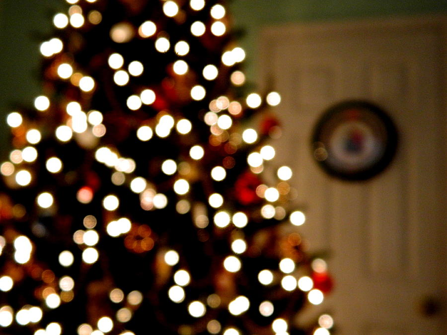 Christmas Tree Bokeh Photograph by Arlane Crump