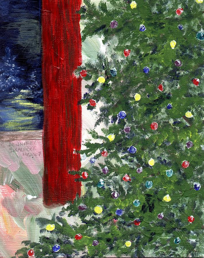 Christmas Drawing - Christmas Tree by Jennifer Skalecke