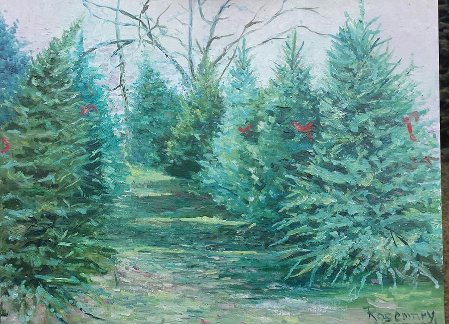 Bay City Painting - Christmas Tree Lot by Rosemary Kavanagh