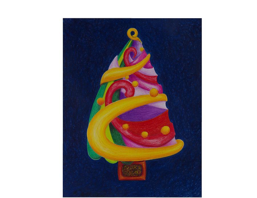 Christmas Drawing - Christmas Tree No. Two by Rick Ahlvers