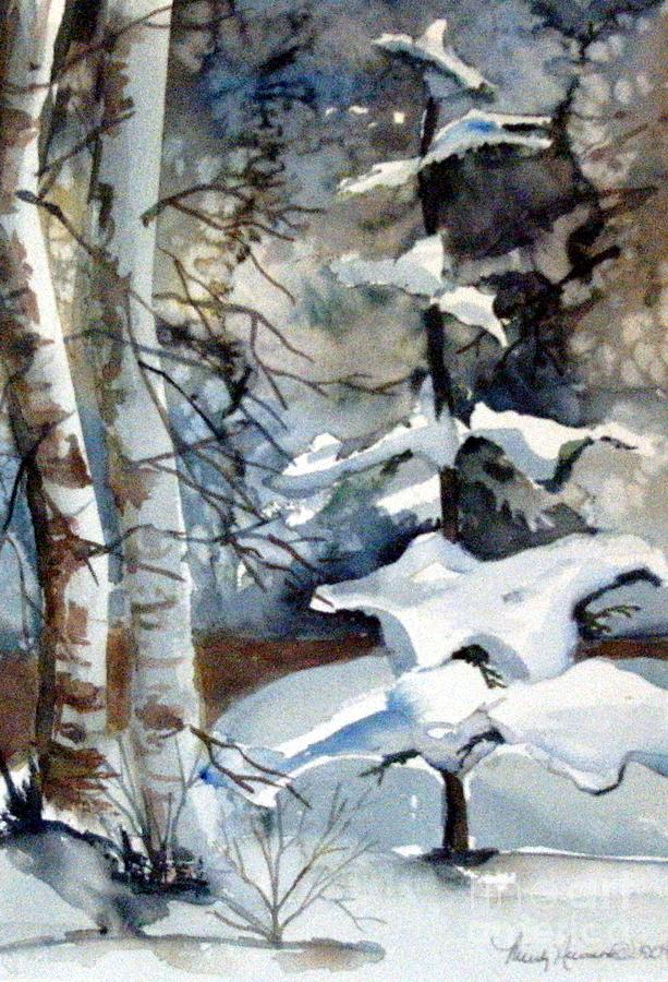 Christmas Trees Painting - Christmas Trees by Mindy Newman