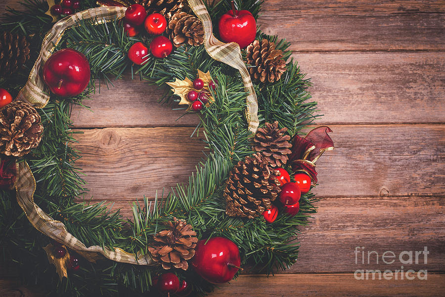 Authentic Photograph - Christmas Wreath  by Jane Rix