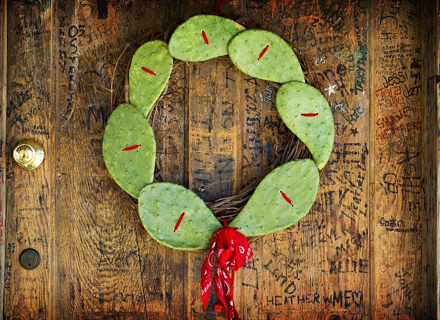 Christmas Photograph - Christmas Wreath by John Gusky