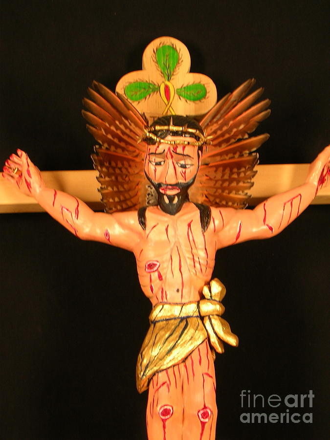 Jesus Mixed Media - Christo Crucificado by George Chacon