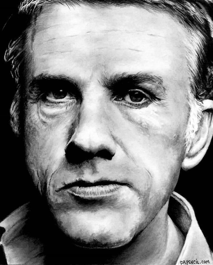 Christoph Waltz Drawing - Christoph Waltz by Rick Fortson