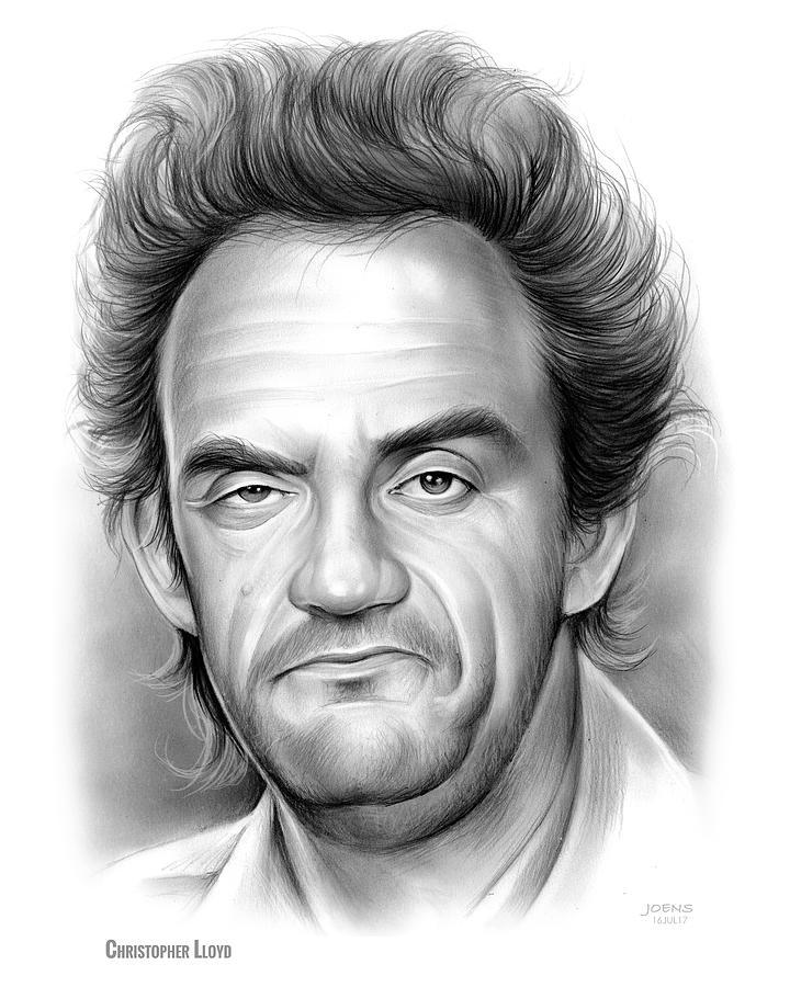 Christopher Lloyd Drawing - Christopher Lloyd by Greg Joens