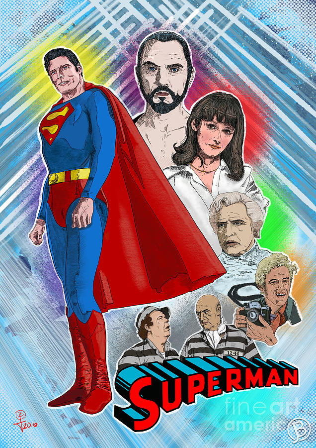 Superman Digital Art - Christopher Reeves Superman by Joseph Burke