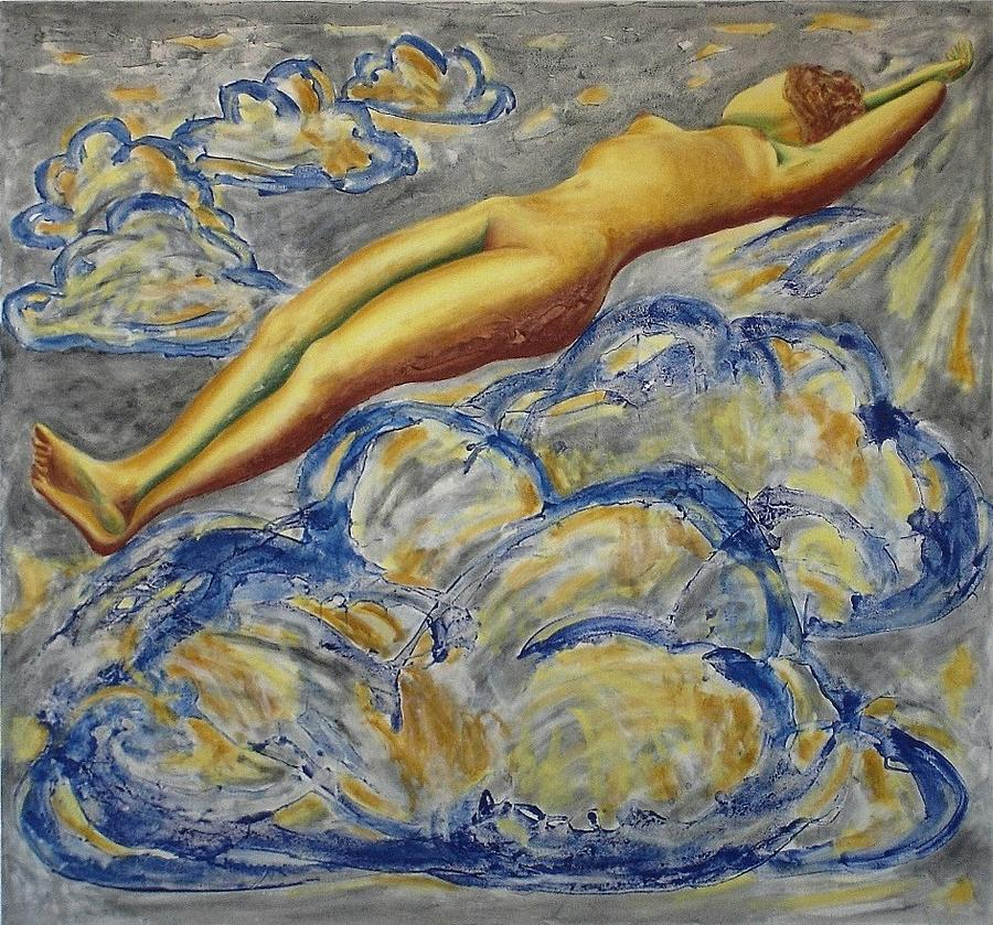 Nude Painting - Chromatic Composition No.11  Seventh Heaven by Michael  Price