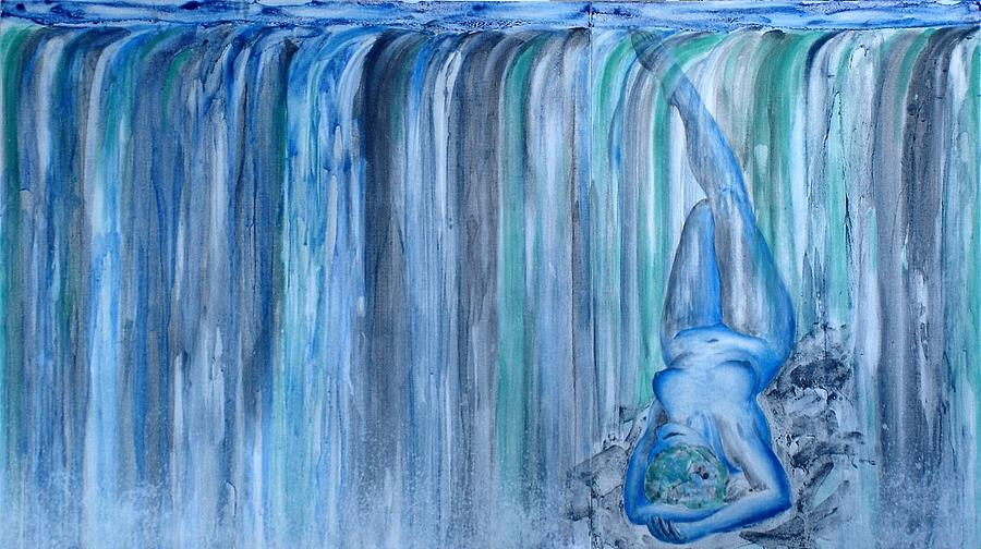 Nude Painting - Chromatic Sequence No 4 Niagara by Michael  Price