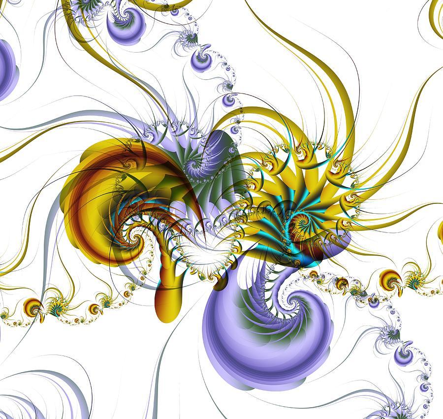 Abstract Digital Art - Chromatic Shrimp by David April