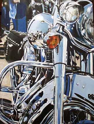 Harley Photograph - Chrome Harley by Mark Pritchard
