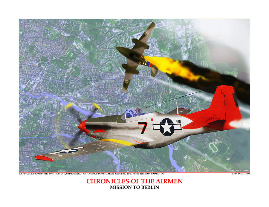 Aviation Digital Art - Chronicles Of The Airmen - Mission To Berlin by Jerry Taliaferro