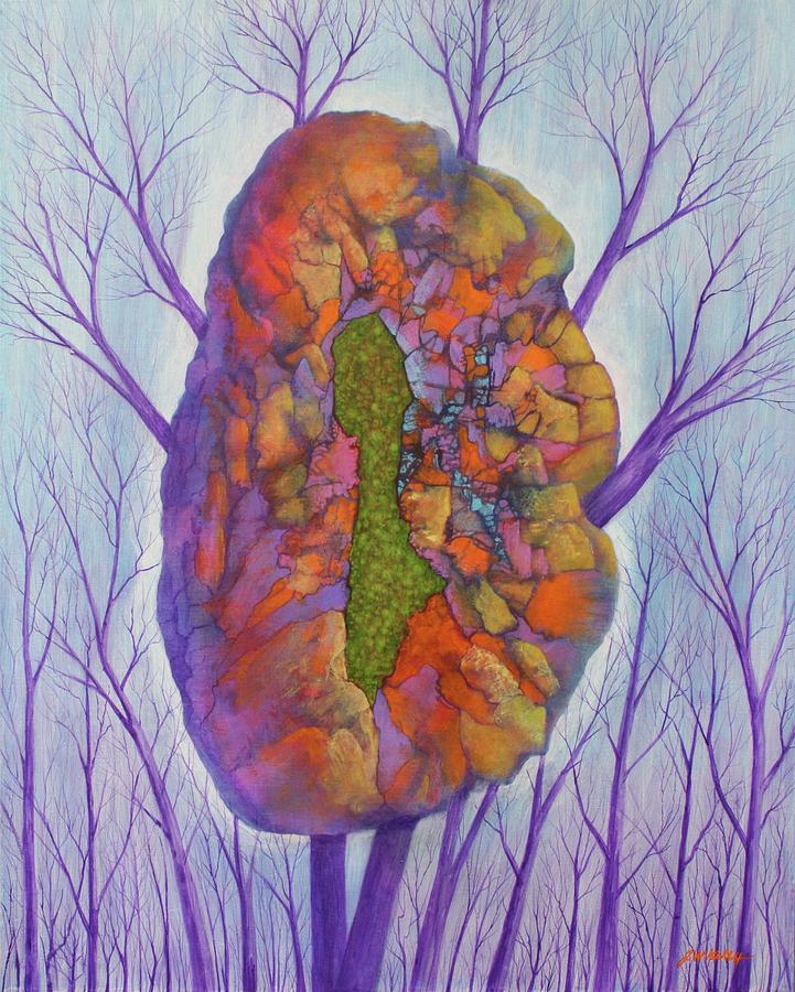 Chrysalis Painting by J W Kelly
