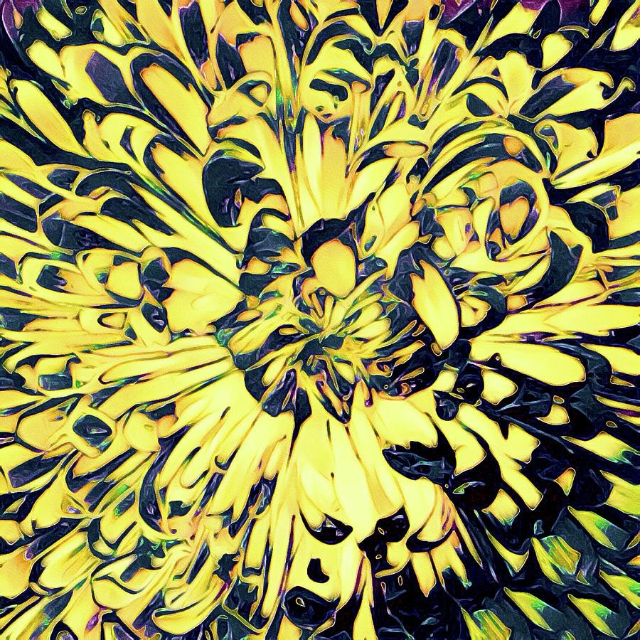 Chrysanthemum Mixed Media - Chrysanthemum Pop by Susan Maxwell Schmidt