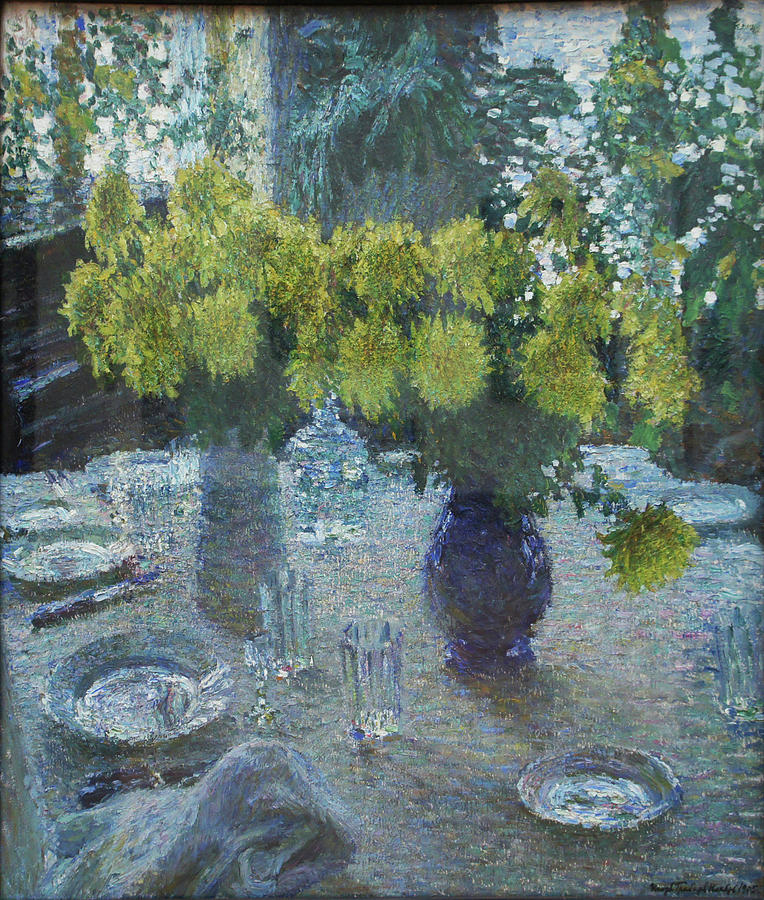 Russian Impressionism Painting - Chrysanthemums by Igor Grabar