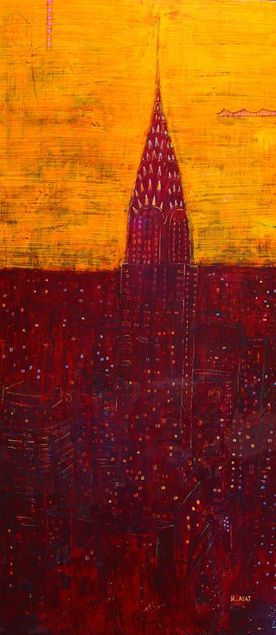 Chrysler Painting - Chrysler at dawn by Habib Ayat