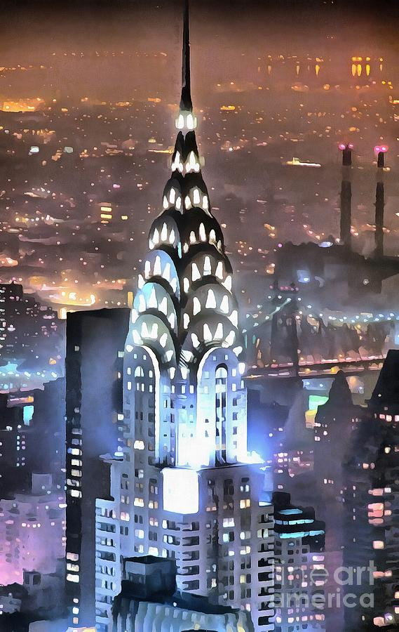 Chrysler Building at Night by Mick Flynn
