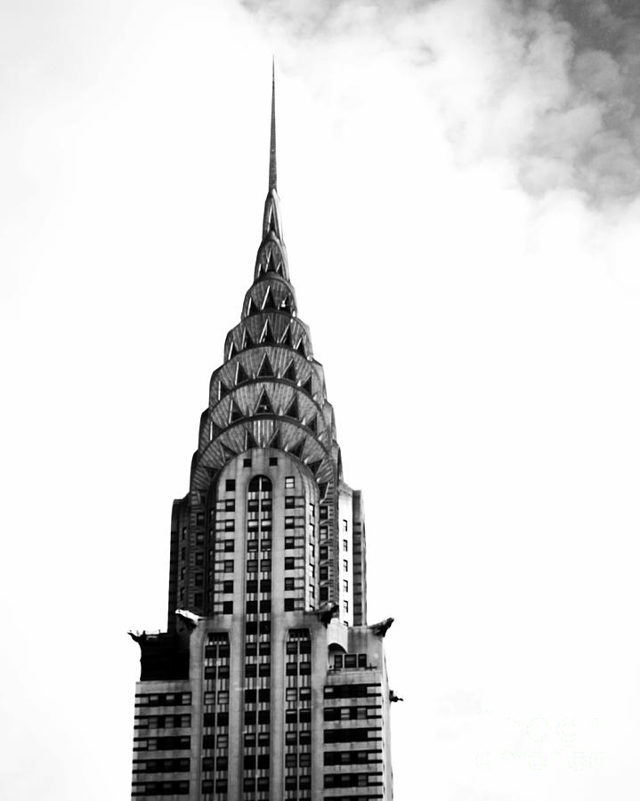 Chrysler Building Black And White Photograph By Victory Designs
