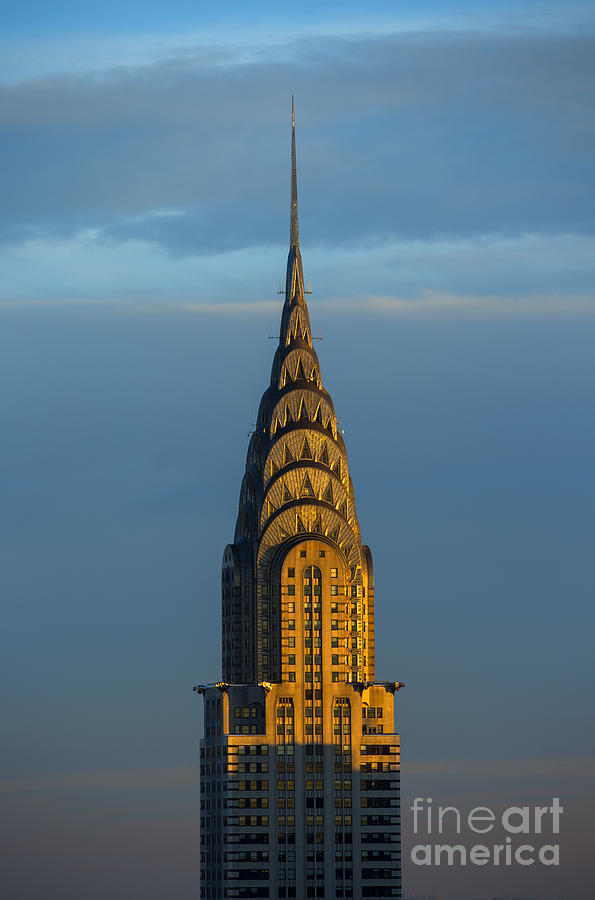 Chrysler Building Photograph - Chrysler Building in the Evening Light by Diane Diederich