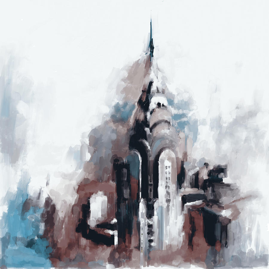 Chrysler Building Ny 564 3 Painting By Mawra Tahreem