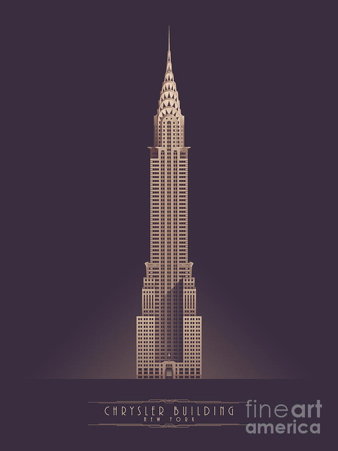 Architecture Digital Art - Chrysler Building - Vintage Dark by Organic Synthesis