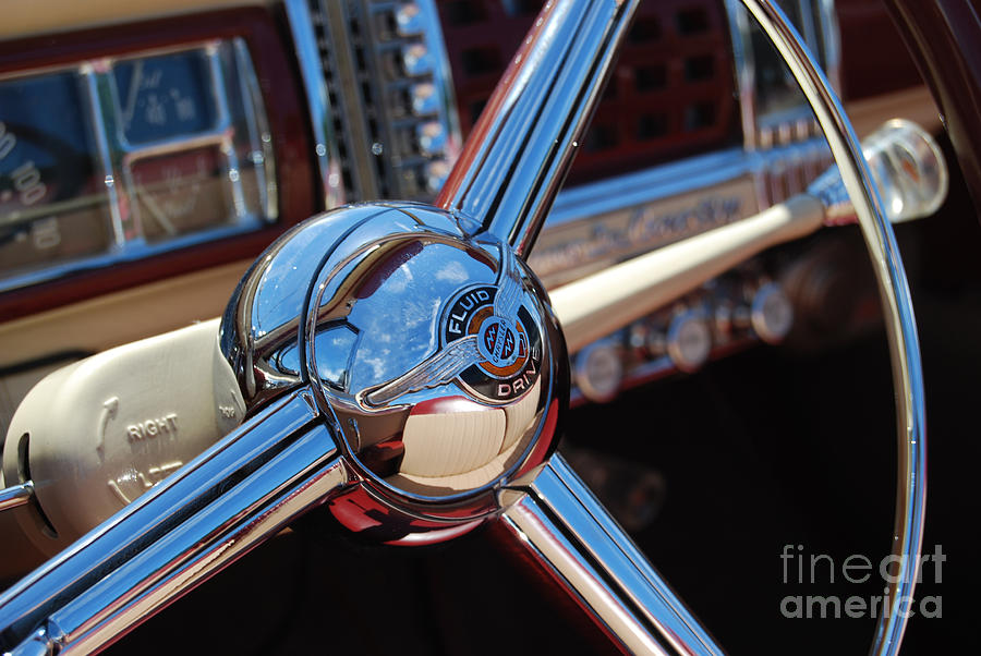 Classics Photograph - Chrysler Town And Country Steering Wheel by Larry Keahey