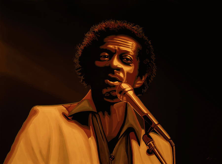 Chuck Berry Mixed Media -  Chuck Berry Gold by Paul Meijering