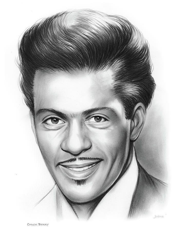 Chuck Berry Drawing