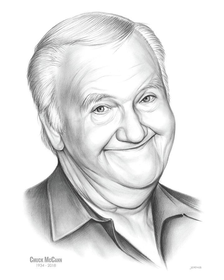 Tv Drawing - Chuck McCann by Greg Joens