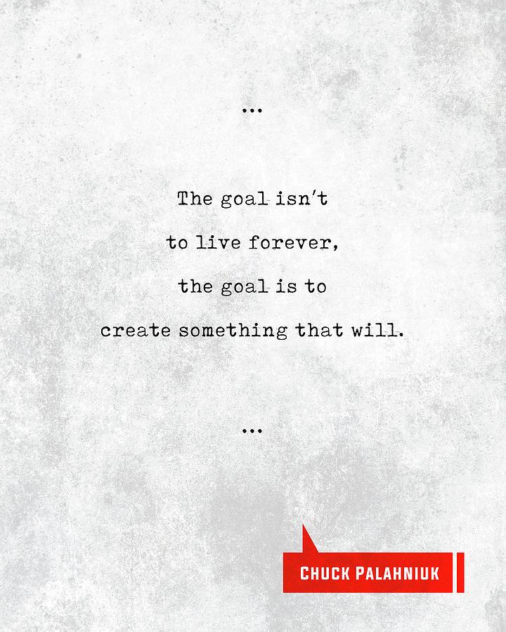 Chuck Palahniuk Mixed Media - Chuck Palahniuk Quotes - Literary Quotes - Book Lover Gifts - Typewriter Quotes by Studio Grafiikka