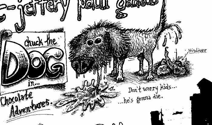 Chuck The Dog Painting by Meat-Jeffery Paul Gadbois