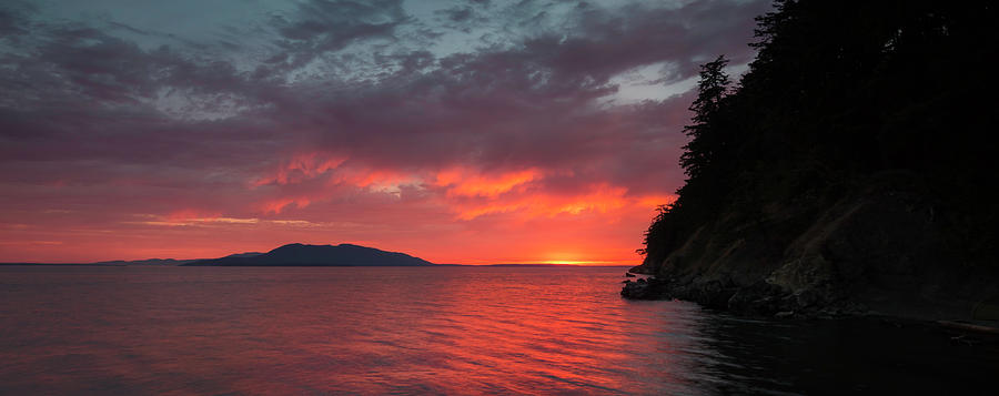Bellingham Photograph - Chuckanut Bay Panorama by Ryan McGinnis