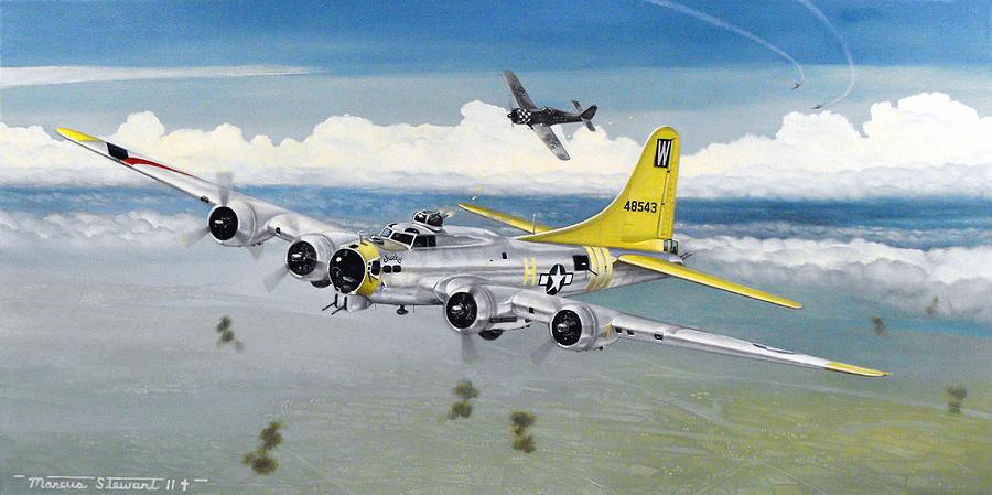 B-17 Painting - Chuckie by Marc Stewart