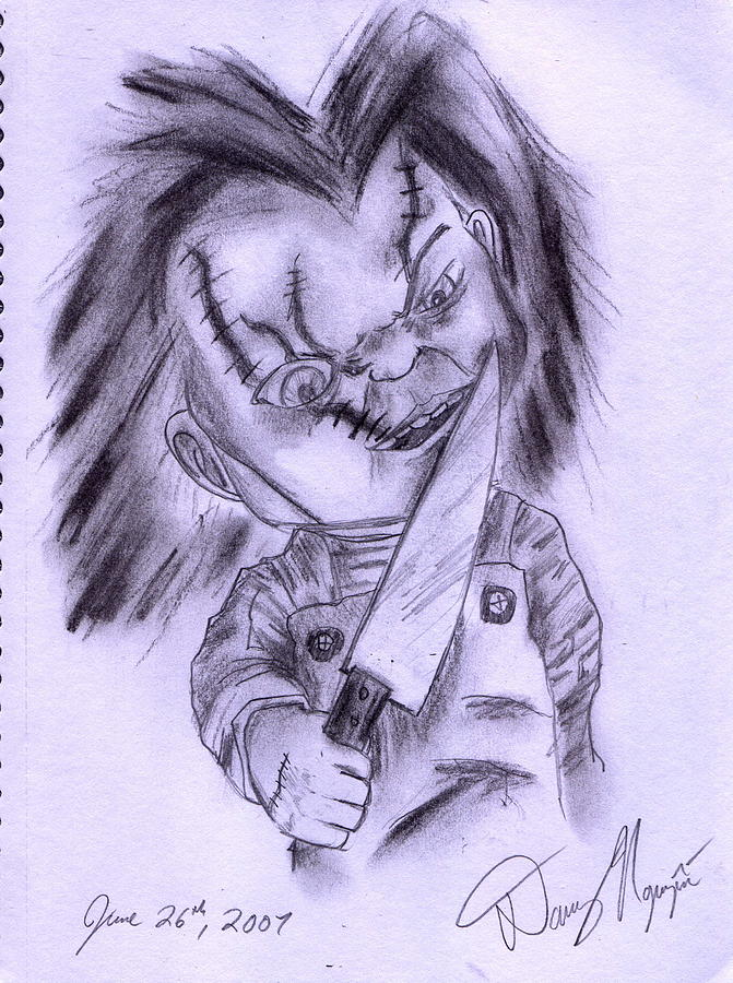 Chucky Drawing by Danny Nguyen