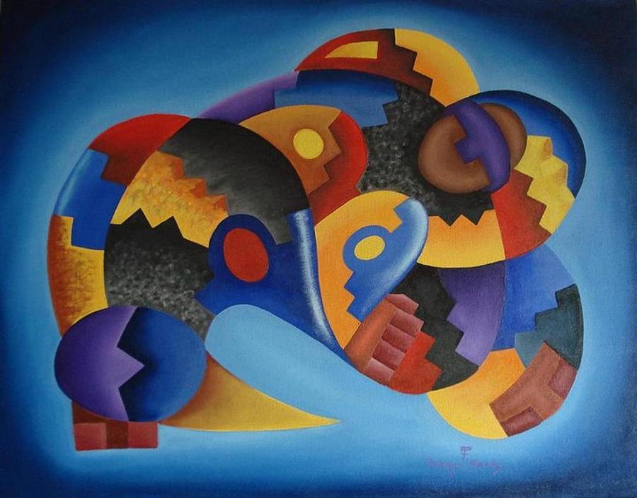 Oil Painting - Chujllas Mayu Apu by Fernando  Ocampo Sandy