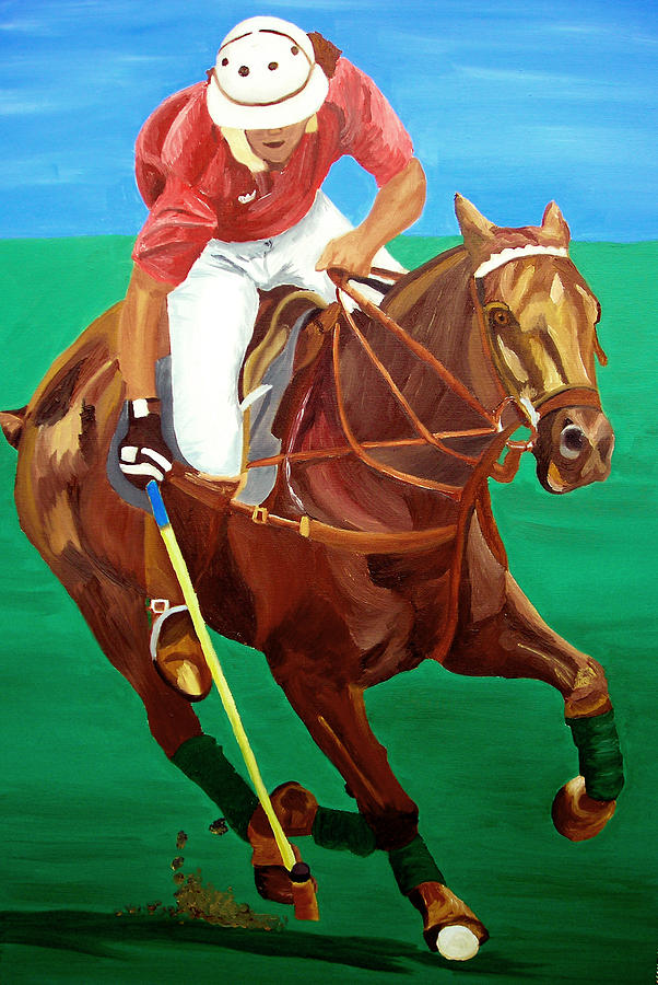 Polo Painting - Chukar by Michael Lee