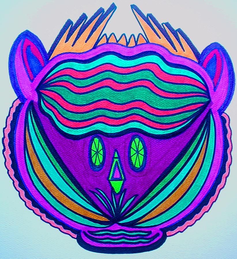 Native Drawing - Chumba by KC Dane
