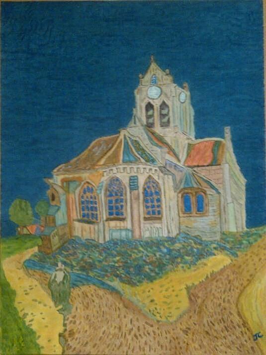 Van Gogh Painting - Church At Auvers by John Cunnane