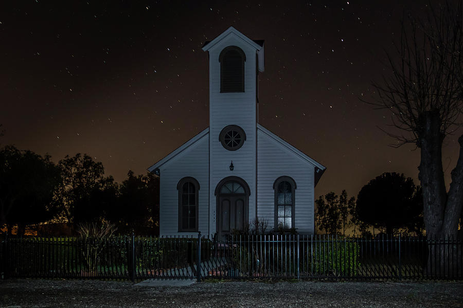 Church at Night by Bruce Bottomley