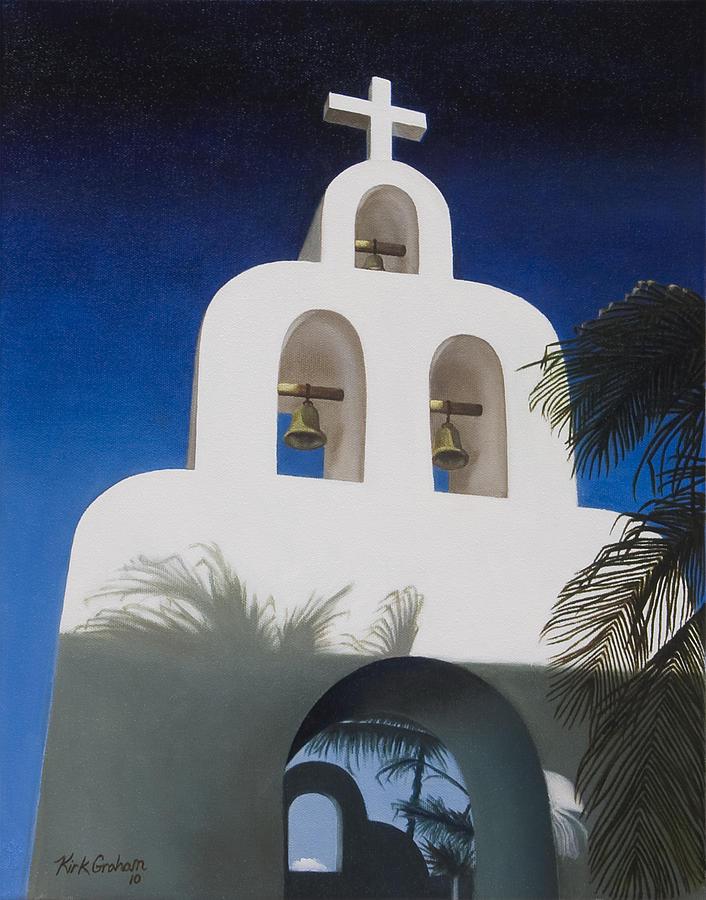 Church Painting - Church At Playa Del Carmen by Kirk Graham