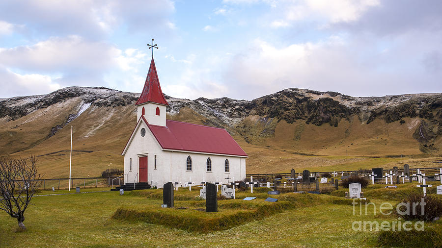 Church At Reynir South Iceland Photograph