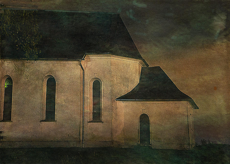 Church Digital Art - Church At Twilight by Sarah Vernon