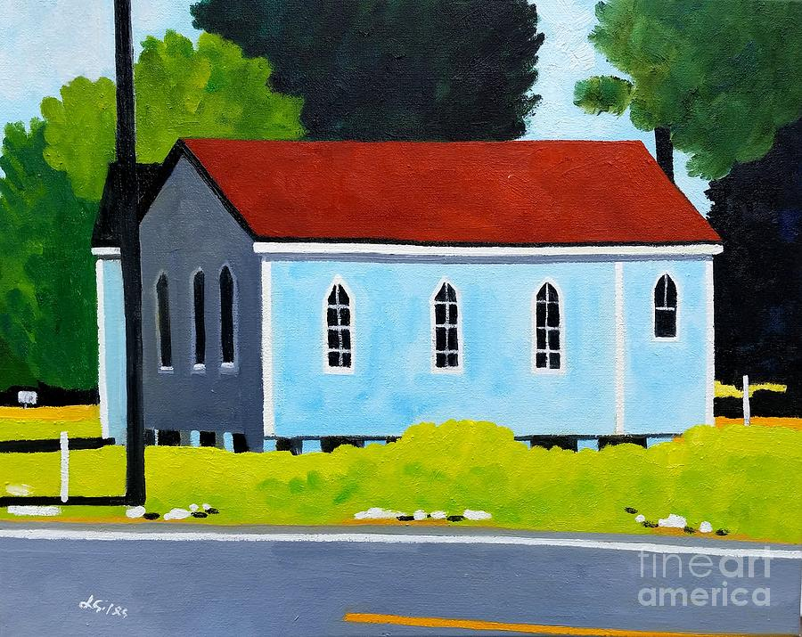Church Painting - Church, Dailsville Rd by Lesley Giles