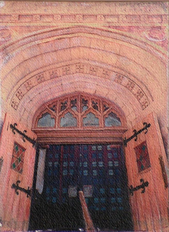 Door Drawing - Church Doors by Kenny King