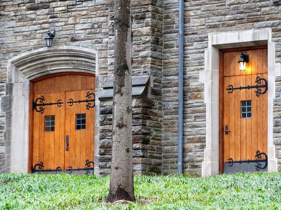 Doors Photograph - Church Doors Of Loyola University Of Maryland Chapel by Gina Sullivan & Church Doors Of Loyola University Of Maryland Chapel Photograph by ...