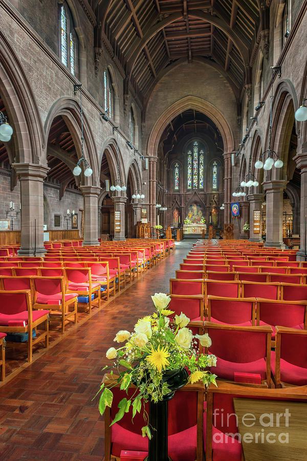 Catholic Photograph - Church Flowers by Adrian Evans