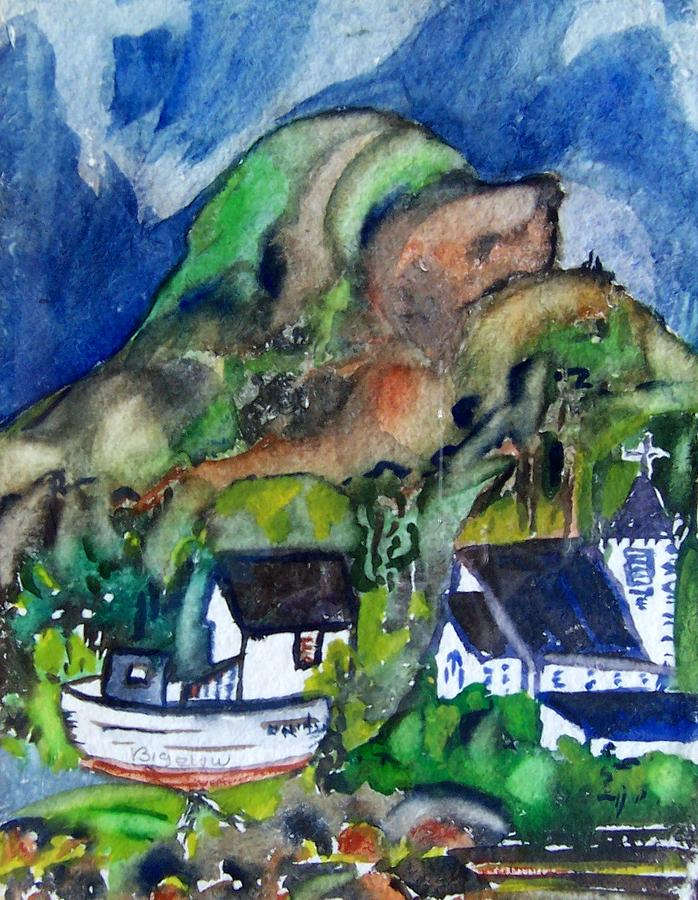 Church Harbor Painting by Patricia Bigelow