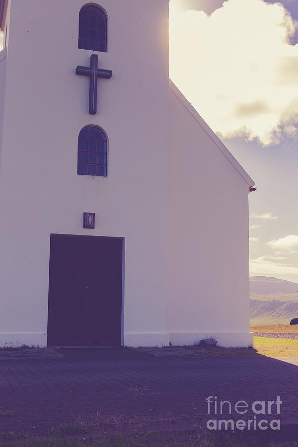 Church Photograph - Church Iceland by Edward Fielding