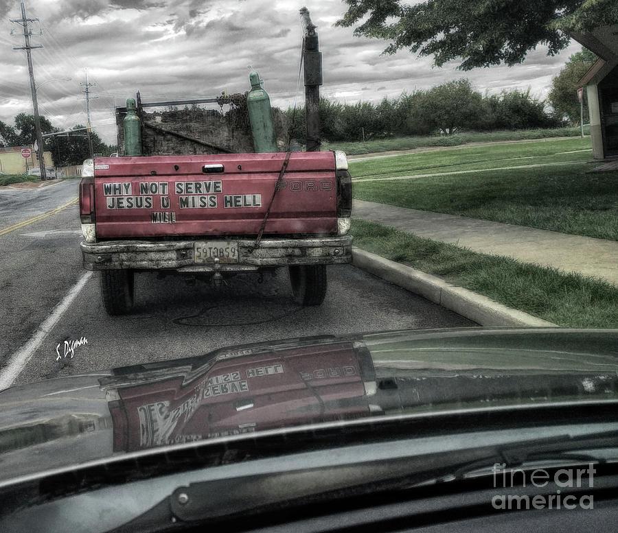 Trucks Photograph - Church In A Truck - Rural America  by Steven Digman